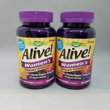 Nature's Way Alive! Women's Gummy Vitamins 60 gummies 2PK Exp 11/20+