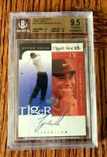 2001 UD TIGER WOODS STAMPED AUTO JAM IV SILVER RC BGS 95.5 W2 SUB 10 ONLY 1 LIST
