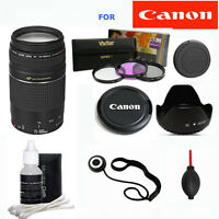 Canon EF 75-300mm f/4.0-5.6 III LENS PRO ZOOM LENS KIT FOR CANON EOS REBEL T3 T5