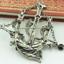 """Sailing Boat """"Pirates Ship""""One Badge Pin Jewelry Badge/Brooch Pirate Boat"""