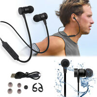 Metal Magnetic Wireless Headphones Bluetooth Earbuds with Mic Headset Sport