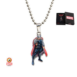 Youths Avengers Thor Dog Tag Pendant Necklace Official Marvel Merchandise