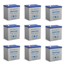 Power-Sonic 9 Pack - 12V 5AH - APC UPS SLA REPLACEMENT BATTERY - REPLACES RBC44