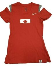 Nike Dri-Fit Womens Team Canada Ice Hockey Winter Olympics Red T-Shirt small