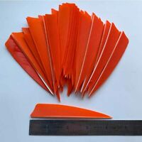 Details about  /50PCS 5inch Striped Dark Blue Shield Vanes Fletches Feathers Fletching RW LW