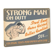 Strong Man Posing SIGN for Muscle Men Power Lifting Bodybuilding Weight Trainers