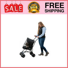 Travel Lite Pet Stroller For Cats & Dogs Up To 15 Lbs Jet Black Pet Products