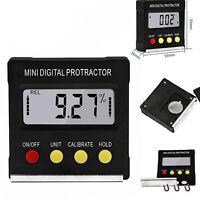 Digital LCD Gauge Level Box Angle Finder Inclinometer Magnetic Meter