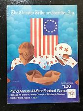42nd All-Star Football Game College All-Stars vs. Pittsburgh Steelers Program