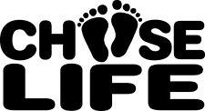 Choose Life Baby Decal Window Bumper Sticker Car Pro Life No Abortion Children