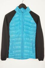Women Calvin Klein Jacket Breathable Standex Polyester Nylon Blue M VAU953