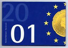 FDC set Nederland 2001 Introductie Euro munten