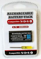 Battery for Nintendo DSi Rechargeable 2000mAH + Tool Screwdriver System Console
