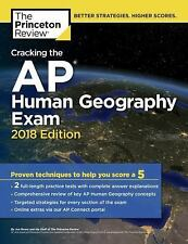College Test Preparation: Cracking the AP Human Geography Exam, 2018 Edition by Princeton Review Staff (2017, Paperback)