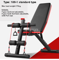 New Multifunctional Foldable Dumbbell Bench 7 Gear Backrest Sit Up AB Abdominal