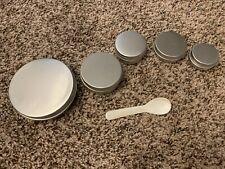 15-100ml Aluminium Empty Cosmetic Pot Cream Jar Tin Container Box Screw Lid SC