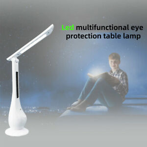 LED Desk Dimming Foldable Table Lamp With Calendar Time Night Lights Temperature