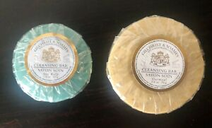 Gilchrist & Soames Lot of 2 Soaps 2.8 oz Oatmeal and 1.5 oz Sea Kelp Rounds New