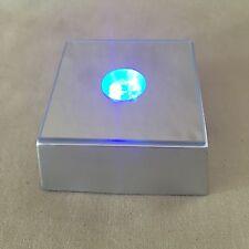 LED Light Base Multi Color LED Light Base Square Crystal Selenite Jewel Display.