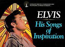 MFD IN U.S.A. NM 1977 ROCK LP ELVIS PRESLEY : ELVIS HIS SONGS OF INSPIRATION