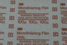 "3M 268L 8-1/2""x11"" 100 Micron PSA Microfinishing Film Sheet UPC 71825"