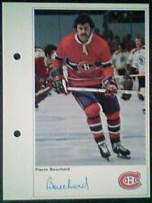 PIERRE BOUCHARD  MONTREAL CANADIENS 71/72 TORONTO SUN PHOTO ROOKIE CARD