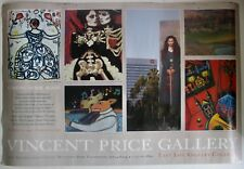Vintage 1995 Poster Vincent Price Gallery Art Collection Modern Abstract Artist