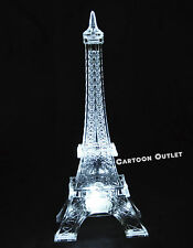 """EIFFEL TOWER FIGURE LED LIGHT UP PARTY FAVORS WEDDING BRIDAL CAKE TOPPER 5.5"""""""