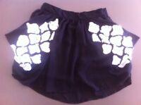 Ladies Black HOUSE OF WILDE Skirt Size Small 8-10 White Sequins Short Dress Mini