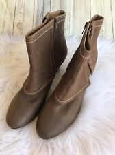 Report Ankle Zip Up Round Toe Boots Hayward Brown High Heel Size 13 NWT $99