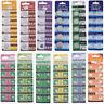 5-100stk. 1.5V Alkaline Knopfzelle Sortiment Uhrenbatterie Auswahlbar AG0 - AG13