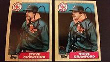 Steve Crawford Red Sox 1987 Topps #589 Royals Signed Authentic Autograph JA15