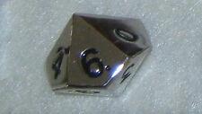 Metal dice die, d10 (Silver Color)