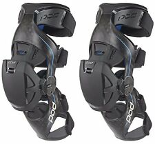 POD K8 MX Knee Brace Carbon/Blue Set Left and Right Pair - NEW- MEDIUM OR LARGE