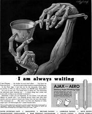 Boris Artzybasheff Ajax Aero Sanitary Cups I AM DISEASE 1943 Magazine Print Ad