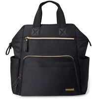Skip Hop MAINFRAME WIDE OPEN BACKPACK CHANGING BAG - BLACK Baby Bag BN