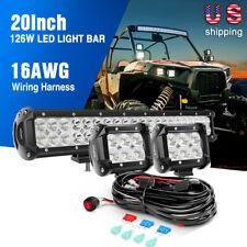 "Nilight 20Inch 126W LED Light Bar for Jeep SUV ATV 4WD Off Road Trucks PK 22 24"""