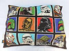 "Star Wars Pillow 19"" x 26"" Darth Trooper Yoda R2D2 Luke Boba C3PO"
