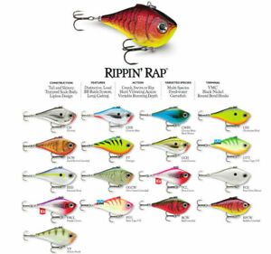 Rapala Rippin Rap // RPR06 // 6cm 14g Fishing Lures (Choice of Colors)