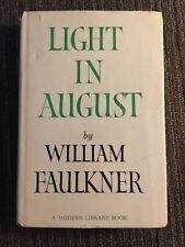 Light In August-Faulkner 1959 MODERN LIBRARY