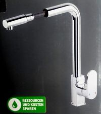 Küchenarmatur mit herausziehbarer Brause - Schönes Design - Chrom