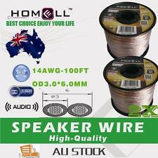 2PCS SW02A High Performance 100FT 14AWG  Speaker Cable Wire With Plastic Roll