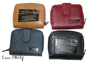 Ladies leather Lorenz purse RFID Protected with bus pass window / ID 3703