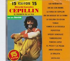 Cepillin 15 Exitos El Payasito de La Tele CD New Nuevo Sealed