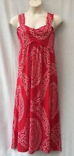 Autograph Plus Size 16-18-20 Maxi Dress Red White Casual Beach Party Holiday