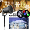 Outdoor Snowflake LED Stage Light Moving Snow Laser Projector Garden Stage Lamp