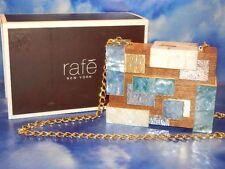 Rafe Rayma Cubist Minaudiere Wood Multi Chain Purse-$915 MSRP