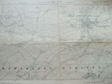 DEVON DEVONSHIRE VINTAGE MAP LARGE 1932 OKEHAMPTON CAMP HAMLETS PARK EAST HILL