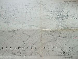 DEVON DEVONSHIRE VINTAGE MAP LARGE 1932 OKEHAMPTON CAMP HAMLETS PARK EAST HILL