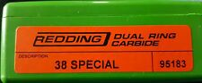 95183 REDDING 38 SPECIAL DUAL RING CARBIDE SIZER - BRAND NEW - FREE SHIPPING